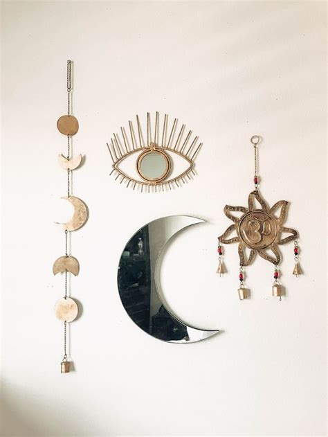 room inspo om wall hanging moon phase decor