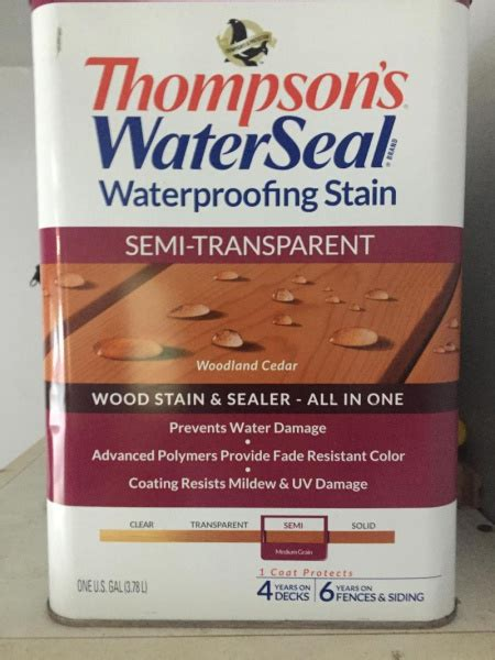 painting  thompson water seal painting diy