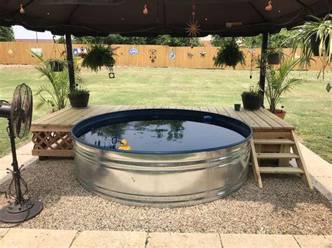 stock tank pool beat  heat  summer