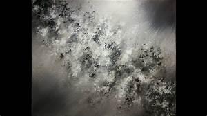 Peinture En Noir Et Blanc : peinture acrylique abstraite en noir et blanc d monstration de peinture pinterest ~ Melissatoandfro.com Idées de Décoration