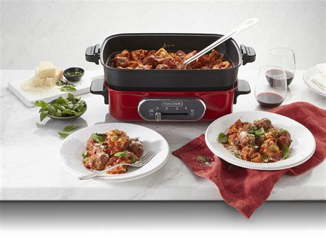 multifunction cooking pot red