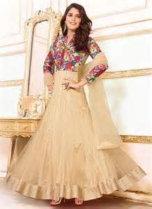designer gown girlish net designer gown