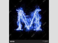 Letter D In Blue Fire