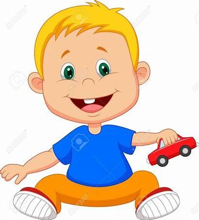 Playing Boy Cartoon Toy Vector Clipart Clip