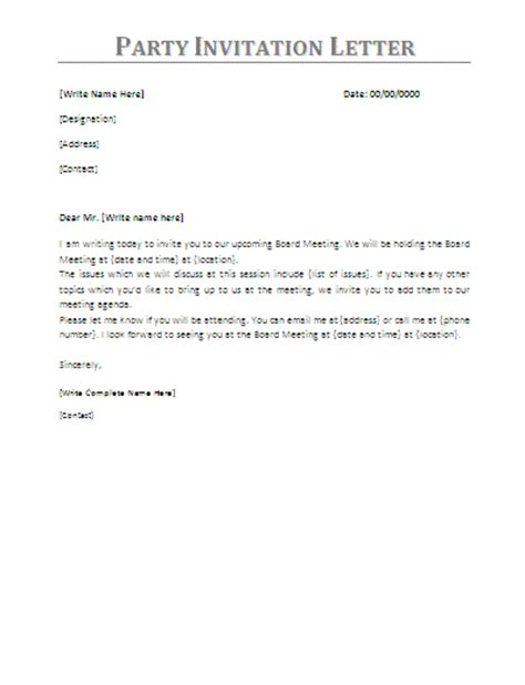 party invitation acceptance letter writing  letter
