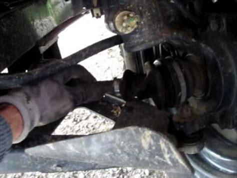kubota rtv  broken front left drive shaft youtube