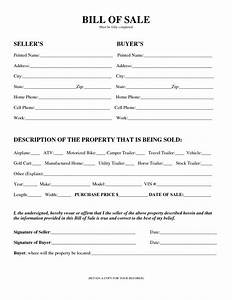 Camper bill of sale form free free printable documents for Bill of sale for travel trailer