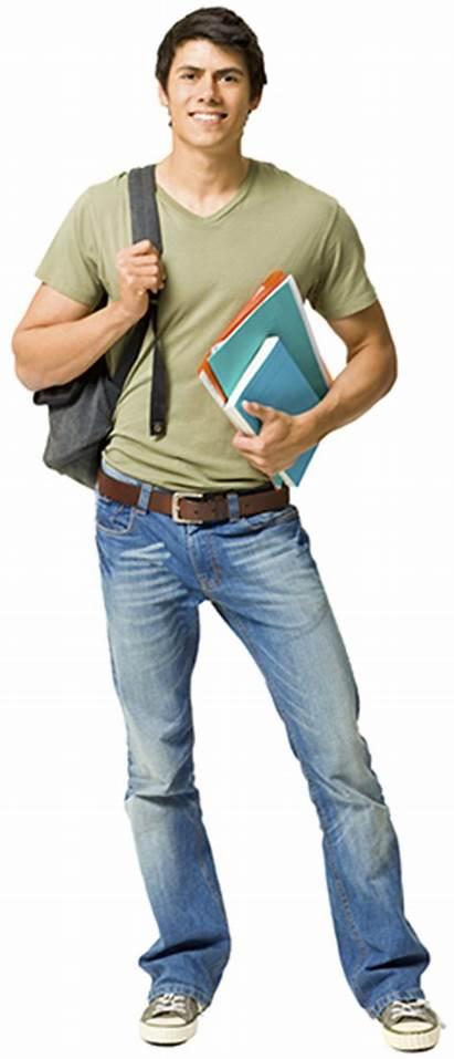 Student Male University Backpack American Fast Undergraduate