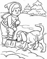 Coloring Snow Boy Winter Sheets Dog Playing Drawings Sheet Dogs Skiing Hidden Primary Anycoloring Boys Kaynak sketch template