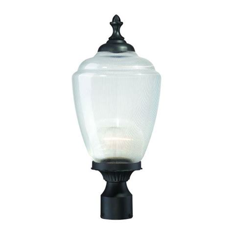 lowes l post lights shop acclaim lighting acorn 20 25 in h matte black post