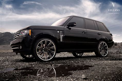 Range Rover Hse Black Vellano Wheels Tuning Cars Wallpaper