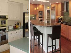 galley kitchen remodel before and after on a bud 640