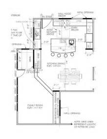 kitchen floor plans islands u shaped kitchen floor plans with island