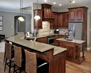 Birch Cabinetry with stained finish - Traditional