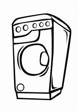 Dryer Washer Clip Pages Coloring Printable Clipart Number Cliparts Library Clipground Template sketch template