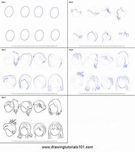 How to Draw Anime Hair - Female printable step by step ...