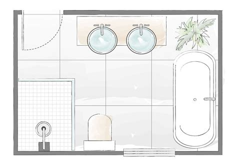 Bathroom Floor Plans by Bathroom Layout Plans For Small And Large Rooms