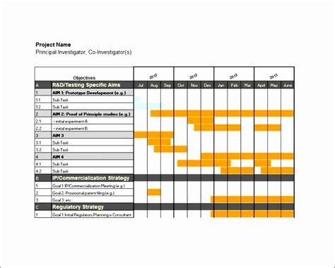 Gantt Chart Word Template by 8 Excel Simple Gantt Chart Template Exceltemplates