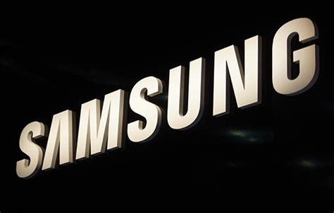 Samsung Logo with Black Background