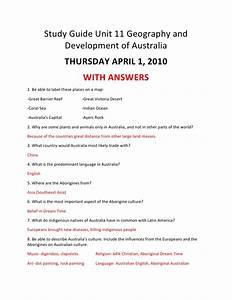 Study Guide Unit 11 Geography And Development Of Australia
