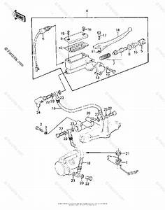 Kawasaki Motorcycle 1980 Oem Parts Diagram For Front