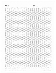 free printable hexagon graph paper
