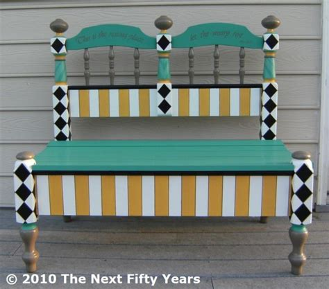 Funky Benches by How To Make An Headboard Into A Cool Bench Diy For