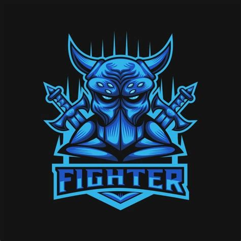 monster fighter club  sports logo vector illustration