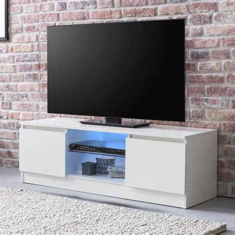 finebuy led lowboard fernsehschrank weiss hochglanz tv