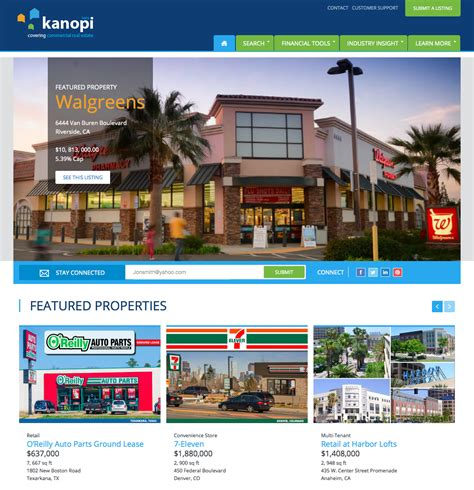 Best Listing Websites Launch Of Kanopico A Commercial Real Estate Website