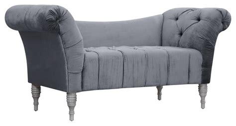 velvet chaise settee sheik grey velvet settee indoor chaise