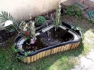 Bassin Exterieur Preforme : bassin semie enterr 150l youtube ~ Premium-room.com Idées de Décoration