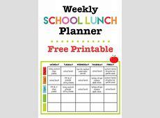Weekly School Lunch Printable