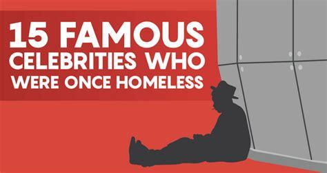 famous celebrities    homeless creditloancom