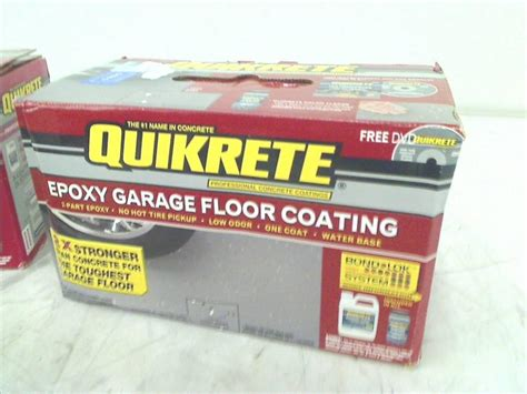 Quikrete Garage Floor Epoxy by Quikrete 02 50020 Light Gray Garage Floor Epoxy Kit 1
