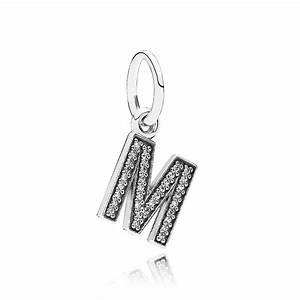 pandora letter m pendant charm 791325cz pandora from With pandora letter necklace