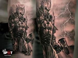 greek god tattoo sleeve | Thor - God Of Thunder 8531 Santa ...