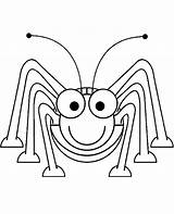 Cricket Printable Insect Coloring Topcoloringpages Happy Colouring Insects sketch template