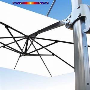 Toile Pour Parasol Déporté : toile de remplacement pour parasol d port biscarrosse de couleur blanc jasmin ~ Teatrodelosmanantiales.com Idées de Décoration