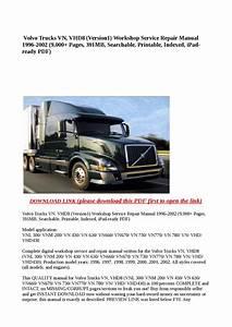 Volvo Trucks Vn  Vhd8  Version1  Workshop Service Repair