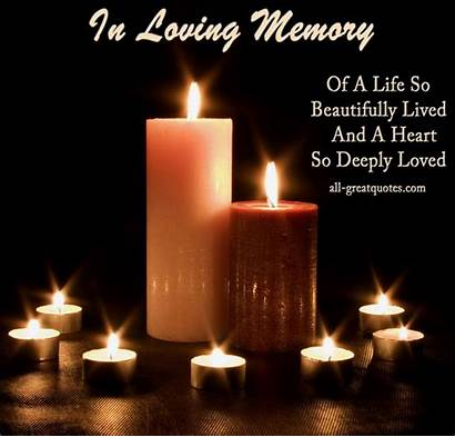 Memory Loving Quotes Memoriam Loved Sympathy Candles