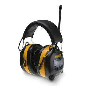 dewalt amfm digital tune ear muff dpg  home depot