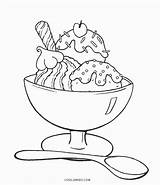 Ice Coloring Cream Sundae Pages Printable Drawing Cool2bkids Sheets Sunday Summer Colouring Para Colorear Dibujos Birthday Drawings Yummy Paper Kid sketch template