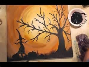 Halloween Canvas Painting Tutorial