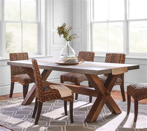 pottery barn kirkwood dining table abbott rectangular dining table pottery barn