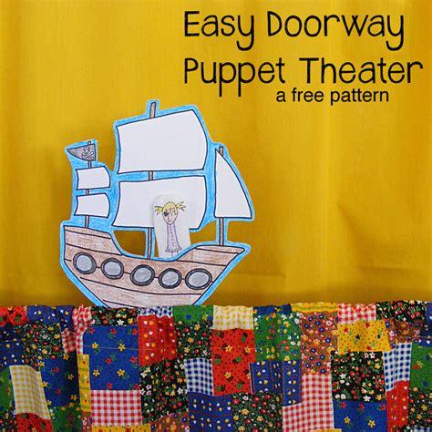 puppet theater pattern shiny happy world