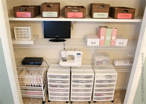 o is for organize a crafty office closet