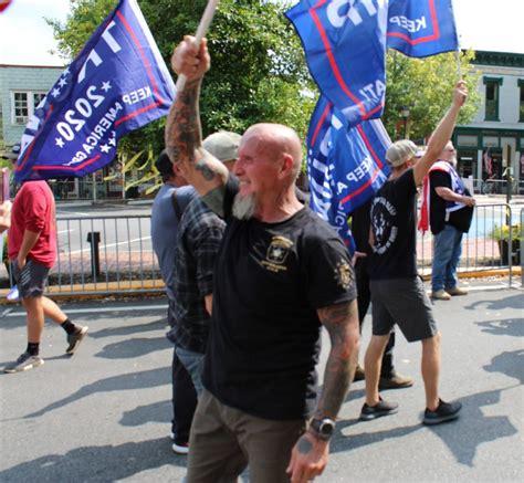 trump rally georgia dahlonega september far right documentation patriots doles chester atlanta
