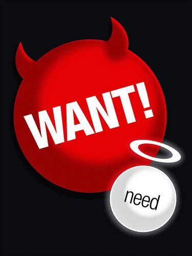Smackpedia: Want vs Need