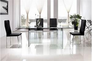 Plateau De Table En Verre : table de repas pieds et plateau en verre idja design sur sofactory ~ Teatrodelosmanantiales.com Idées de Décoration